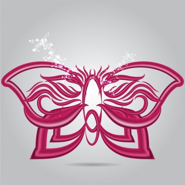 Purple Butterfly, vector design stock vector