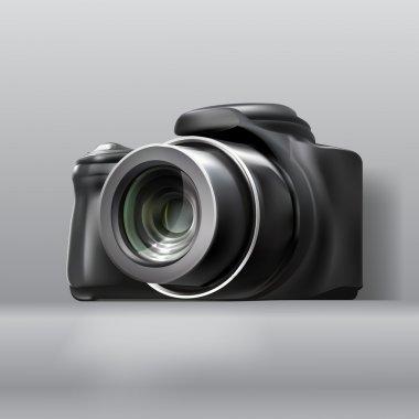 Digital photo camera, vector design stock vector