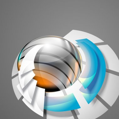 Abstract 3d circle bend lines stock vector