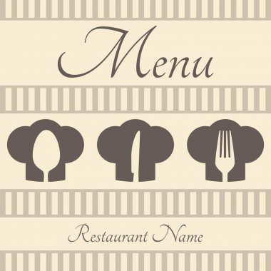 Restaurant sign menu with spoon, fork and knife stock vector