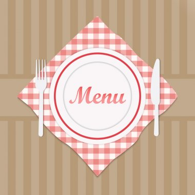 Restaurant sign menu with fork and knife stock vector