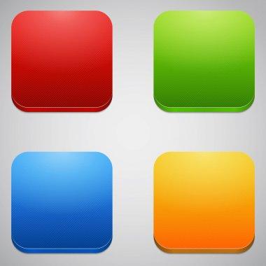 Glossy blank web internet button stock vector