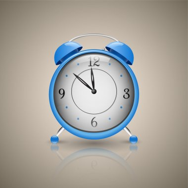 Alarm Clock. Classic alarm clock. Blue stock vector