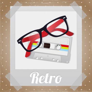 Retro hipster items, vector design stock vector