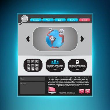 Website Web Design Elements stock vector