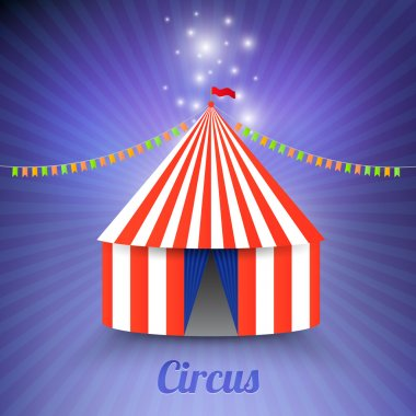 Circus marquee tent isolated stock vector