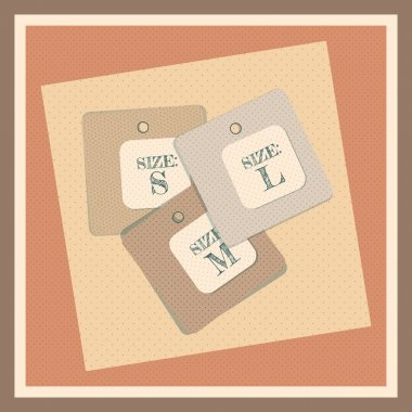 Size Tag Illustration, Vector stock vector