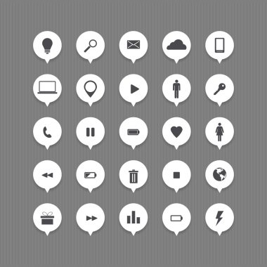 Computer and internet web icons buttons set stock vector