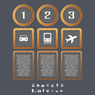 Transport Type Icon, vector design stock vector