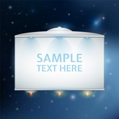 Ufo with text, vector design stock vector