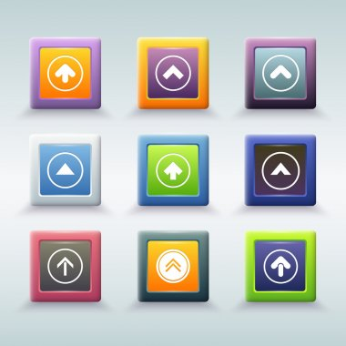Web button with arrow icons stock vector
