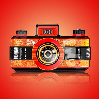 Vector design of retro camera stock vector