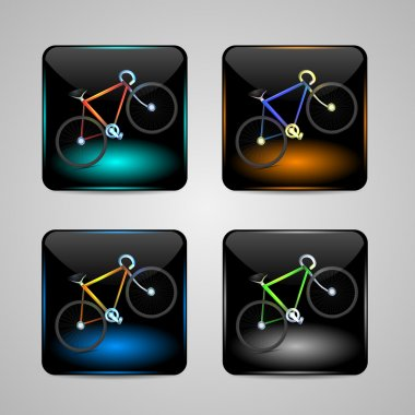 Bicycle sign, Vector icon stock vector