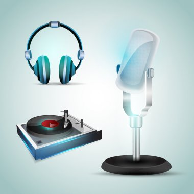 Audio tools vector icons stock vector