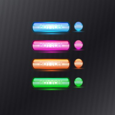 Colorful Buttons, vector design stock vector