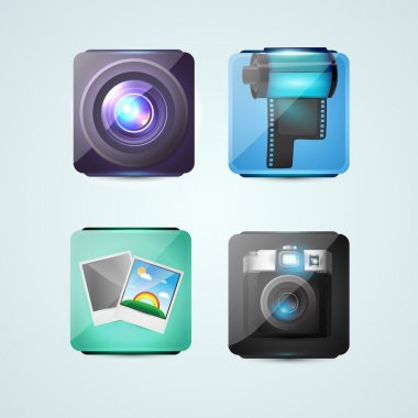 Vector design of photo icons stock vector