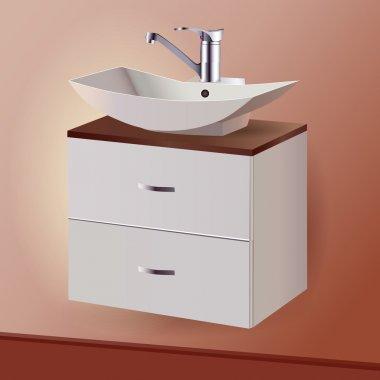 Washing sink. Vector design stock vector