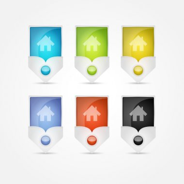 Small house - Vector icons stock vector