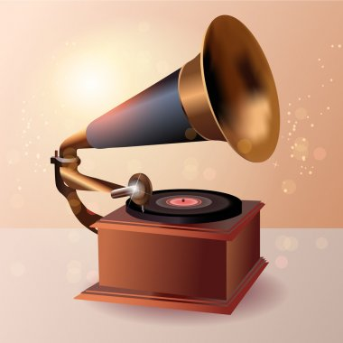Gramophone speaker, vector design stock vector