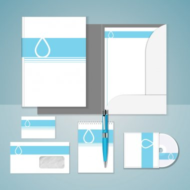 Set of templates corporate identity stock vector