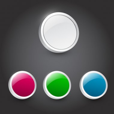 Vector color buttons,  vector illustration stock vector