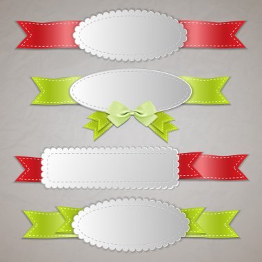Set of vector ribbon banners. stock vector