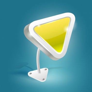 Yellow vector arrow,  vector illustration stock vector