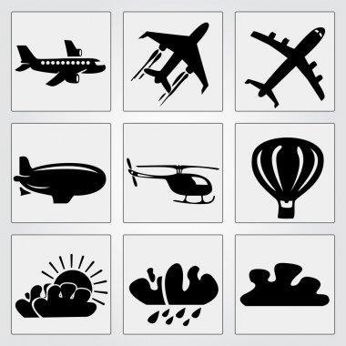 Travel icons set. Vector illustration stock vector