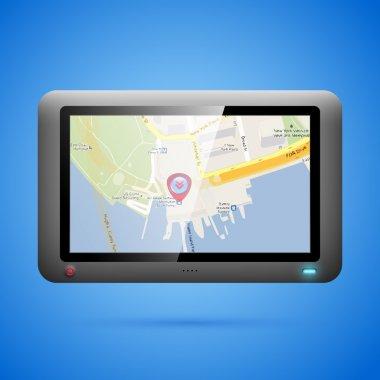 GPS navigation concept. Vector stock vector