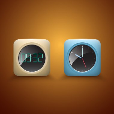 Different Clocks vector icons stock vector