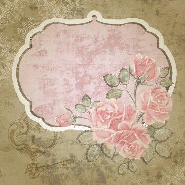 Floral vector background design stock vector