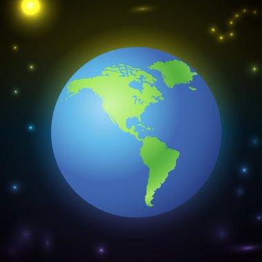 Earth icon,  vector illustration stock vector