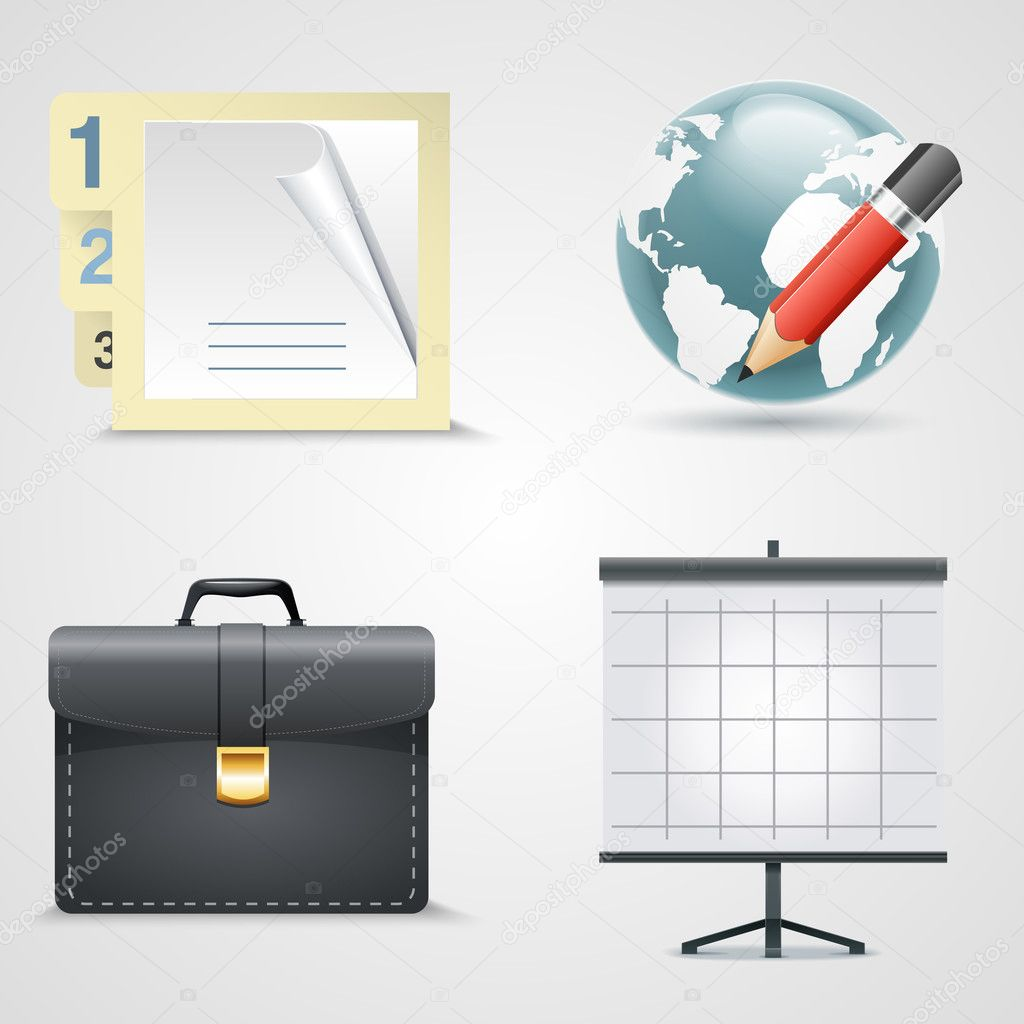 Vector set of bbusiness icons. stock vector