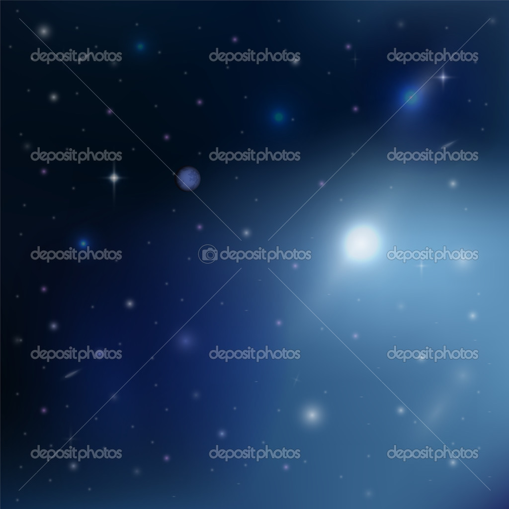 Stars in outer space stock vector