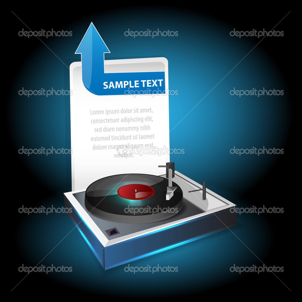 Vinyl player. Vector design stock vector
