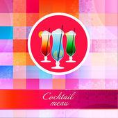 Cocktailgläser. Vektorillustration