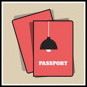 Lamp passport cover. Vector illustration