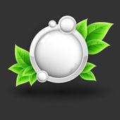 Eco vector icon,  vector illustration