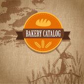 Retro-Logo der Bäckerei. Vektorillustration