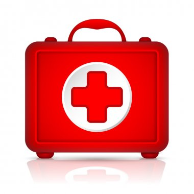 Red First Aid kit. Vector stock vector