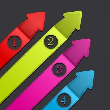 Banners with numbers. Vector stock vector