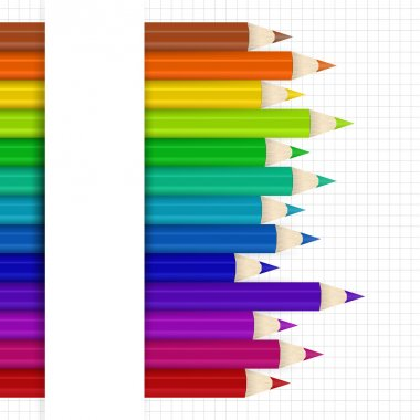 Background with colored pencils. Vector illustration stock vector