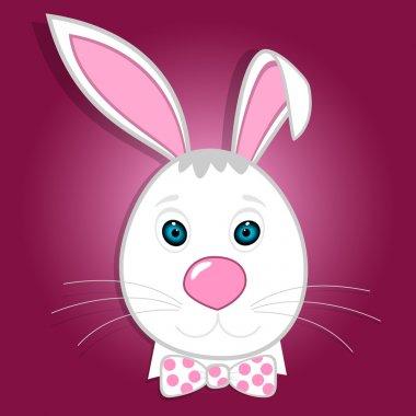 Cute funny bunny. Vector illustration stock vector