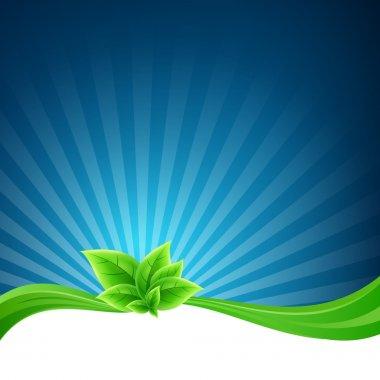 Vector flora background,  vector illustration stock vector