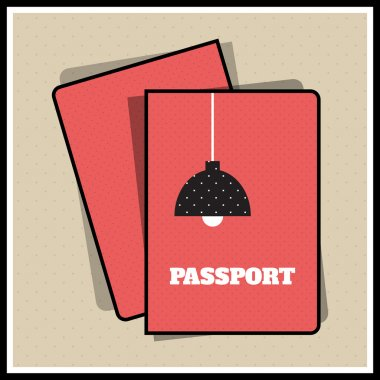 Lamp passport cover. Vector illustration stock vector