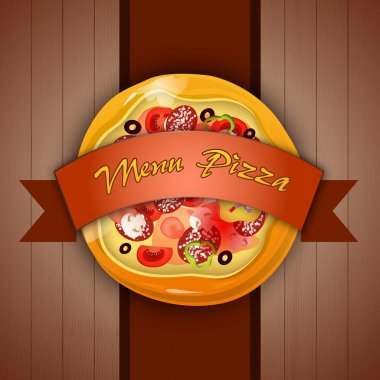 Design menu with pizza. Vector illustration stock vector