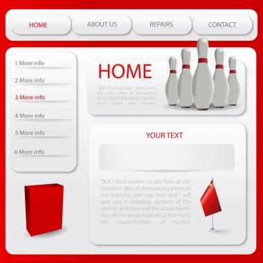 Web site design template. Vector illustration stock vector