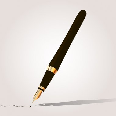 Fountain pen. Vector illustration stock vector