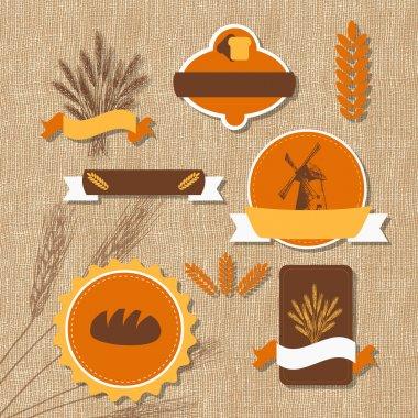 Vintage retro bakery logo. Vector illustration stock vector