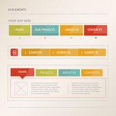 Website design vektorgrafikus elemek